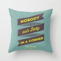 dirty dancing Throw Pillows featuring Dirty dancing by 16floor