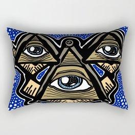 Three Masons in Space Rectangular Pillow