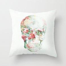 Skull Bouquet Throw Pillow