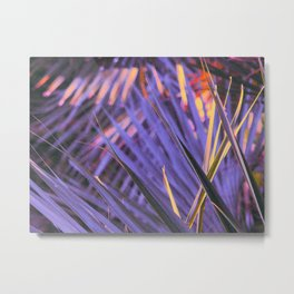 Palmetto Abstract Blue Metal Print
