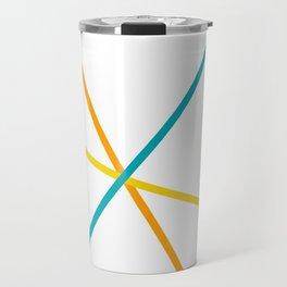Colorful lines Travel Mug