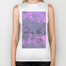 Grey and Pink Marble Biker Tank