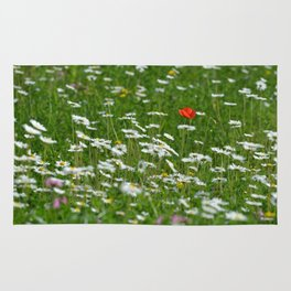 Poppy seed on a meadow Rug