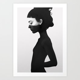 I'm Not Here Art Print