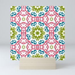 Fashion textures with ornament. Print in beautiful modern design style with seamless patterns. Mini Art Print