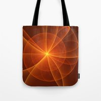 fractal Tote Bags featuring Fractal by gabiw Art