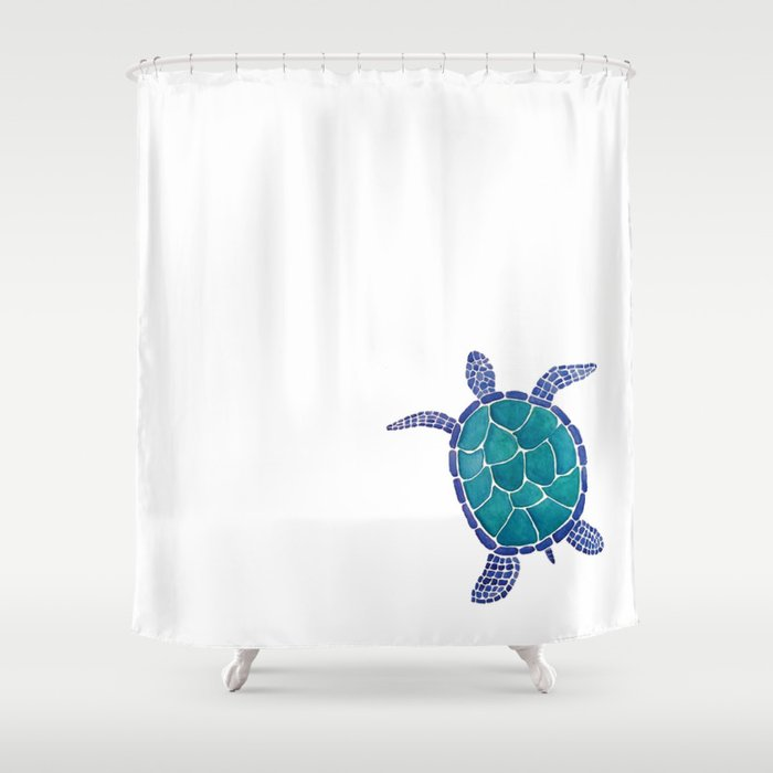 Sea Turtle Shower Curtain By Ashgraphics