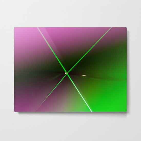 Neon Light Metal Print