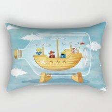 AIRSHIP IN A BOTTLE Rectangular Pillow