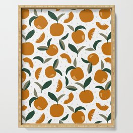 Mid Century Modern Abstract Oranges Serving Tray