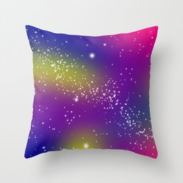 Night stars Throw Pillow