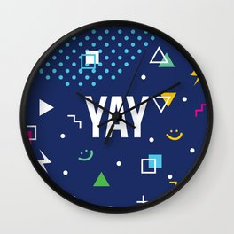 YAY Crazy + Colourful Wall Clock