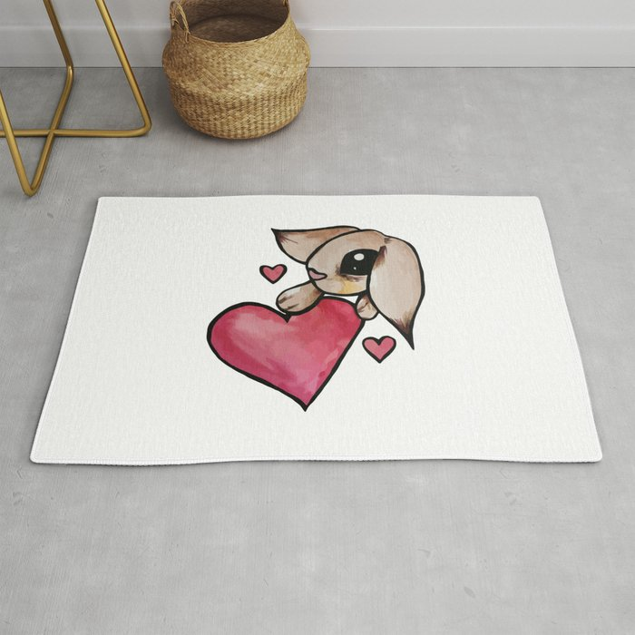 Bunny Rabbit Love Rug