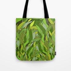 Green Bamboo Leaves Tote Bag