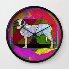 Mastifically Colorful Wall Clock