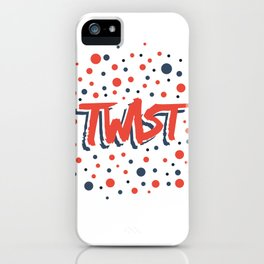 Twist N.12Bis Modele Rond iPhone Case
