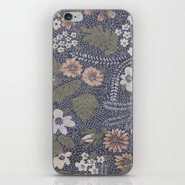Seafoam Floral Pattern iPhone Skin