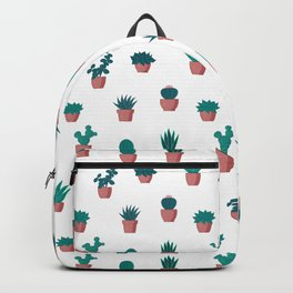 Cacti and Succulents Pattern Backpack