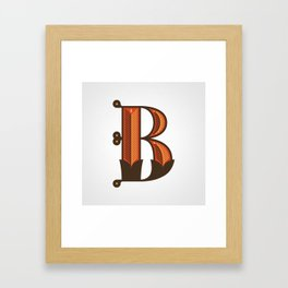 The Letter B Framed Art Print