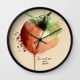 Ceci n'est pas une tomate Wall Clock