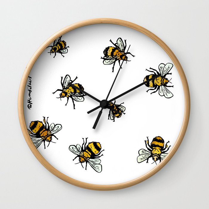 Just Some Beez A - White Wall Clock