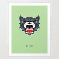 hotline miami Art Prints featuring Hotline Miami Dennis by Danny Rutledge