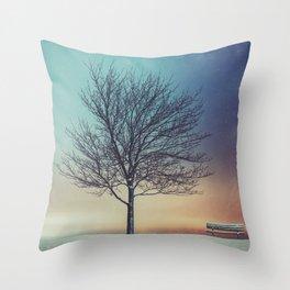 Under the Urban Sky Throw Pillow