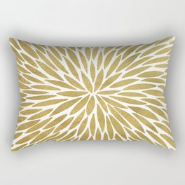 Golden Burst Rectangular Pillow