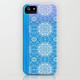 Lacey Mandalas Denim and Blue Overdye iPhone Case