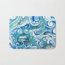 Shark wave Bath Mat
