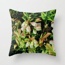 Tiny Blossoms on a Dirt Road Throw Pillow