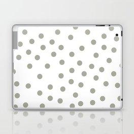 Simply Dots in Retro Gray on White Laptop & iPad Skin