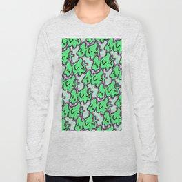 Stay Graffiti Pattern - Slime Green Long Sleeve T-shirt