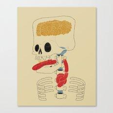 Square Skull...   Canvas Print