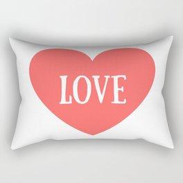 Love Heart Valentines Day Rectangular Pillow