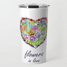 Flowers in Love #Artlove Travel Mug
