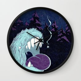 Lonely Monster Wall Clock