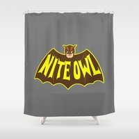 watchmen Shower Curtains featuring Owl hero by Buby87