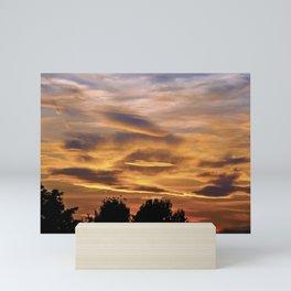 SUNSET MEDITATION #001 BY CAMA ART Mini Art Print