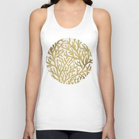 coral Tank Tops featuring Gold Coral by Cat Coquillette