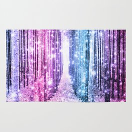 Magical Forest : Pastel Pink Lavender Aqua Periwinkle Ombre Rug