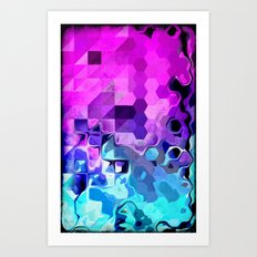 Geometrical Liquid. Art Print