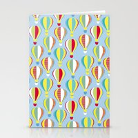 hot air balloons Stationery Cards featuring Hot Air Balloons by Jessica Draws