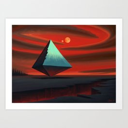 Moon Pyramid Art Print