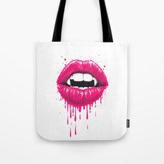 vampire lips Tote Bag