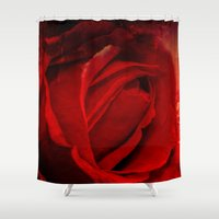 passion Shower Curtains featuring Passion by Loredana