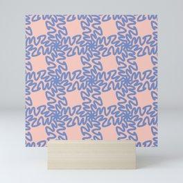 Scribbled Grid Pattern Mini Art Print