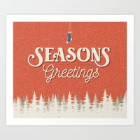Seasons Greetings - Holiday Cheer Art Print