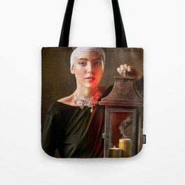 Girl with a Lantern Tote Bag