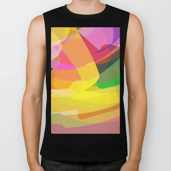 abstract print Biker Tank